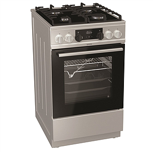 e3f2fc80f25 Gorenje Cooker KC5355XV Hob type Gas, Oven type Electric, Inox, Width 50 cm,  Electronic ignition, Grilling, LED, 70 L, Depth 60 cm
